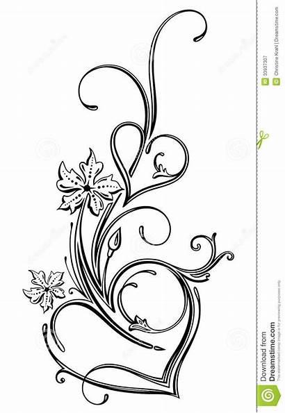 Filigree Hearts Clip Flowers Heart Draw Tattoo