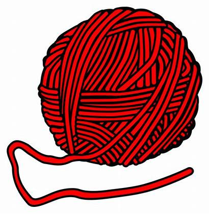 Wool Yarn Clipart Wolle Knitting Cliparts Line