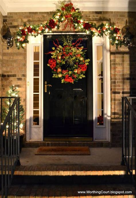 simple elegant christmas lights outside most loved christmas door decorations ideas on pinterest
