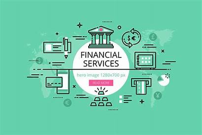Financial Services Banners Hero Market Concept