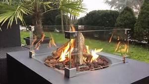gastisch lounge fire table rauchfreie feuertische fur With feuerstelle garten mit schmaler tisch balkon