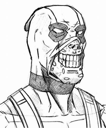 Coloring Deadpool Rocks Spiderman Chibi Mask Printable