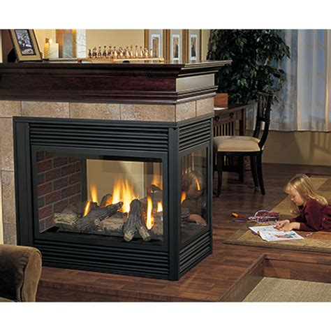 p131 three sided gas fireplace four seasons air control