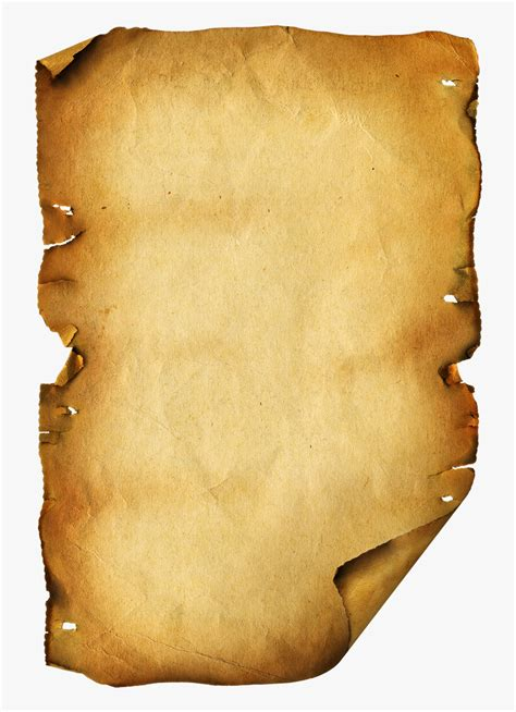 Old Scroll Paper Template Transparent Background Old