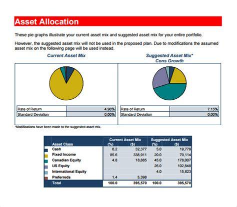 financial plan samples   word excel