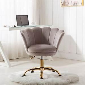 Velvet, Office, Chair, Modern, Swivel, Shell, Vanity, Chair, With, Wheels, Ergonomic, Office, Arm, Chair