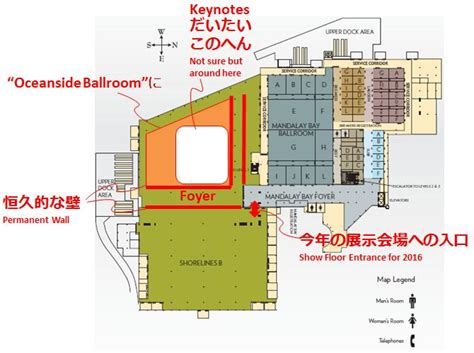 Mandalay Bay Floor Plan Map by Mandalay Bay Convention Center Expansion