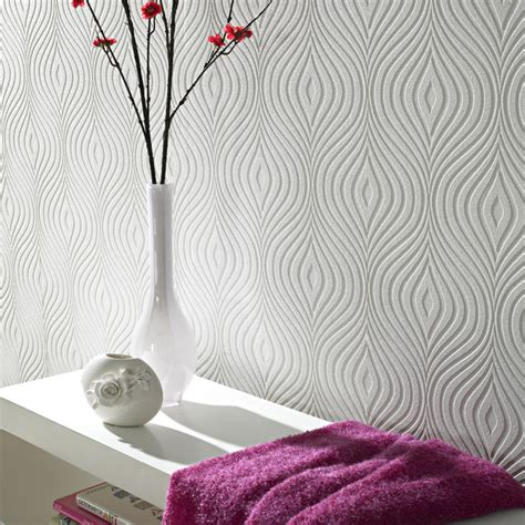 Curvy Paintable Wallpaper  Contemporary  Wallpaper  By