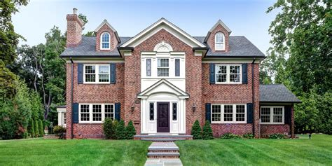 georgian house plans brick colonial house style scarsdale house plans 46353