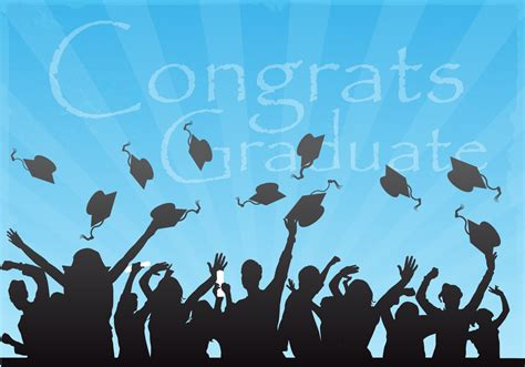 Graduate Background Congrats Graduate Vector Background Free Vector