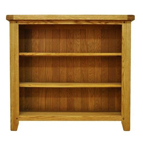 Small Shelf Bookcase by Montacute Oak Small Wide 3 Shelf Bookcase Buy At