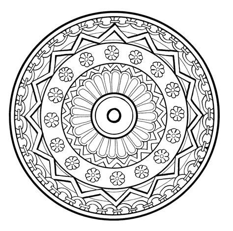 Coloring Mandala by Mandalas To Print Mandalas Coloring Pages
