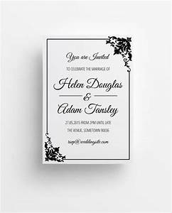 40 wedding invitations download downloadcloud With black and white wedding invitations free download