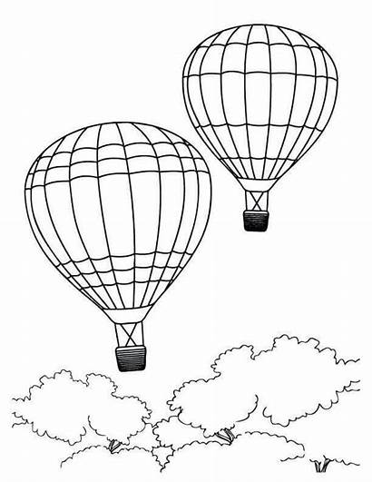 Coloring Summer Pages Printable Air Balloons