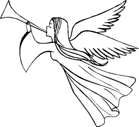 angel trumpet clipart clipground