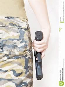 Hand Holding A Gun Stock Image - Image: 8044431
