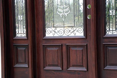 front doors  wrought iron  glass