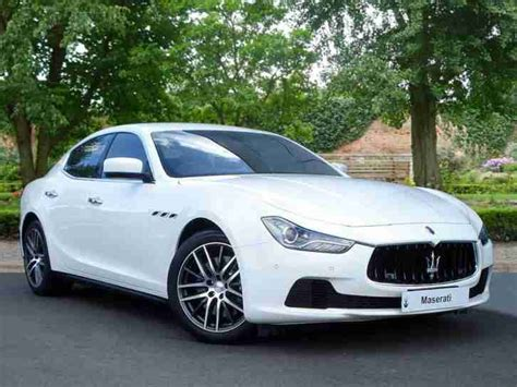 maserati ghibli white maserati 2015 ghibli dv6 diesel white automatic car for sale