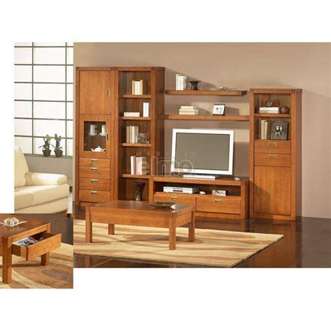cuisine style usine composition living meuble télévision en merisier massif de
