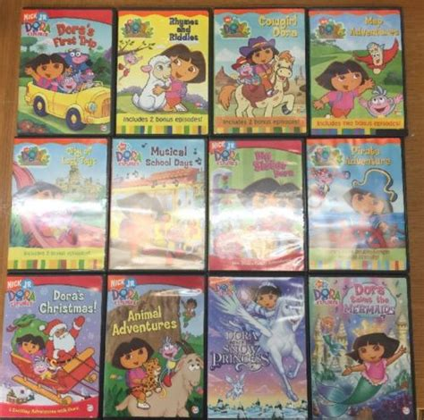 5 dvd lot nick jr the explorer dvds learning for children what s it worth