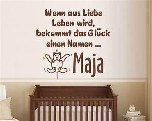 Wandtattoo Name Kind : gl ck baby wandtattoo baby liebe geburt bei ~ Sanjose-hotels-ca.com Haus und Dekorationen
