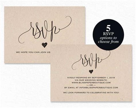 Wedding Invitation Rsvp Card Wording wedding
