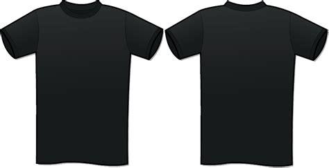 black t shirt template tshirt template clipart best