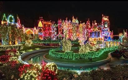 Disneyland Wallpapers Disney Christmas Desktop Street Main