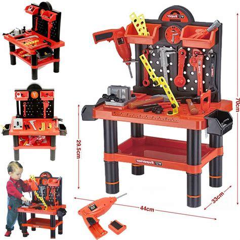 Boys Work Bench - childrens 54pc tool bench play set work shop tools kit