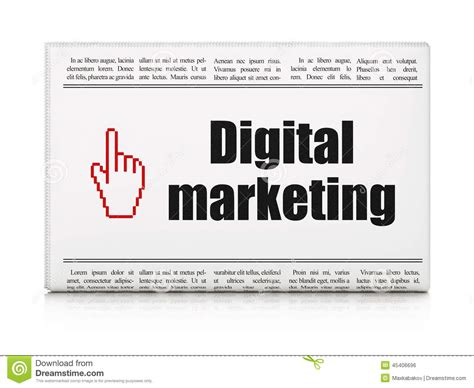 digital marketing news advertising news concept newspaper with digital marketing