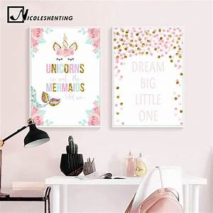 2019 Unicorn Fl... Nursery Canvas Quotes