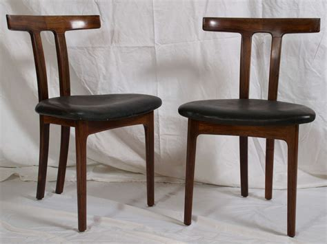 2 ole wanscher rosewood quot t chair quot denmark at 1stdibs