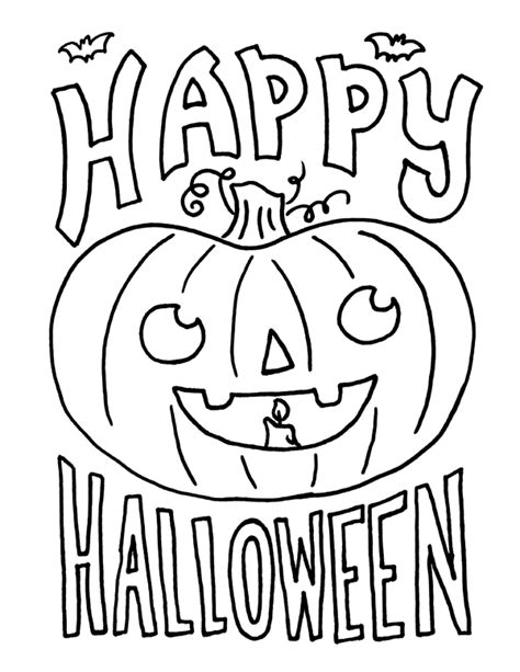 happy halloween coloring pages  kids pinteres
