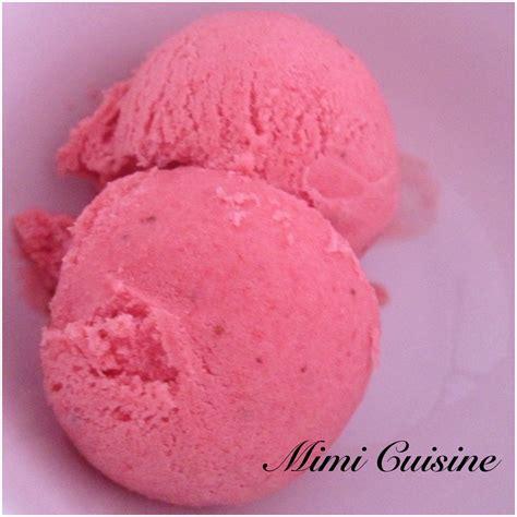 glace  la fraise avec sorbetiere mimi cuisine