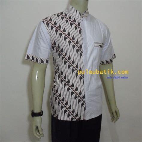 motif batik kombinasi model modern murah batik pria hem