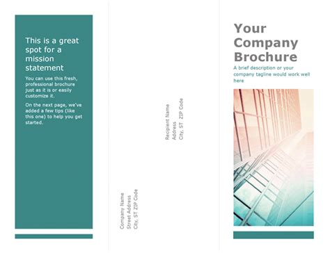 Brochure Templates On Word Word