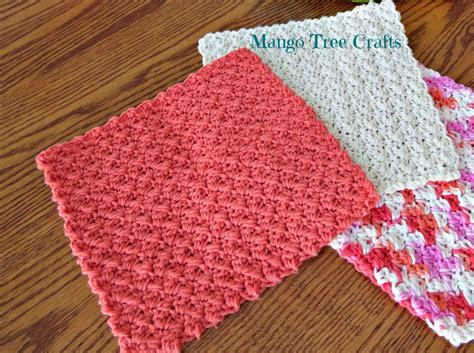 crochet dishcloth patterns mango tree crafts crochet dishcloth pattern