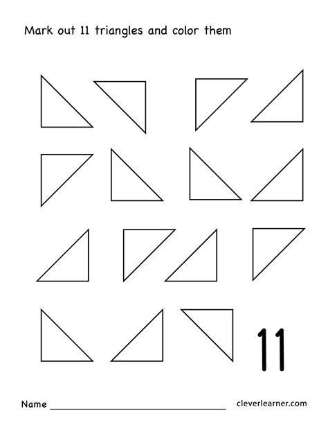 number eleven writing counting  identification