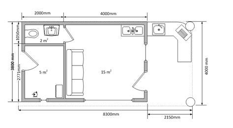 plan cuisine d été piscine traditionelle 8x4 m poolhouse cedar