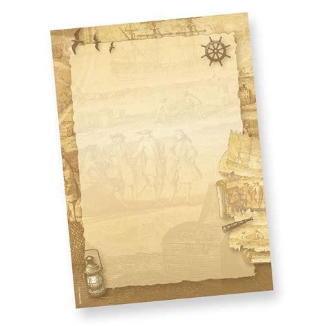 briefpapier piraten seefahrer  sets inkl kuverts