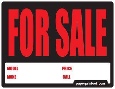 car  sale sign  car  sale sign  runner