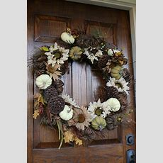 Diy Fall Wreath Tutorial  The Cottage Mama