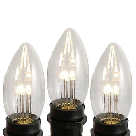 c9 warm white christmas lights clear and white c9 bulbs novelty lights inc