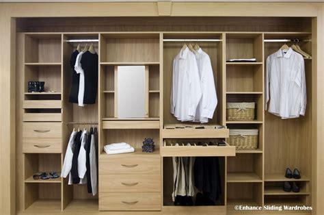 Sliding Wardrobe Closet by Oak Interiors Hanging Shelves Drawers Walkin Closet