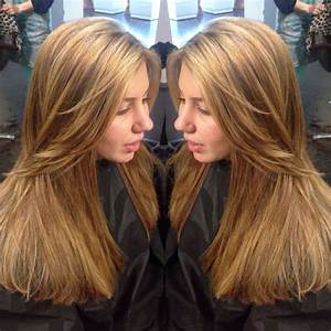 From dark copper brown to light with caramel and