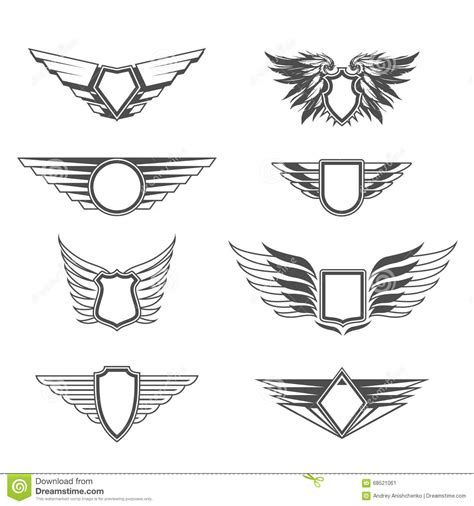 coat of arms template wings shield clipart wing template pencil and in color shield