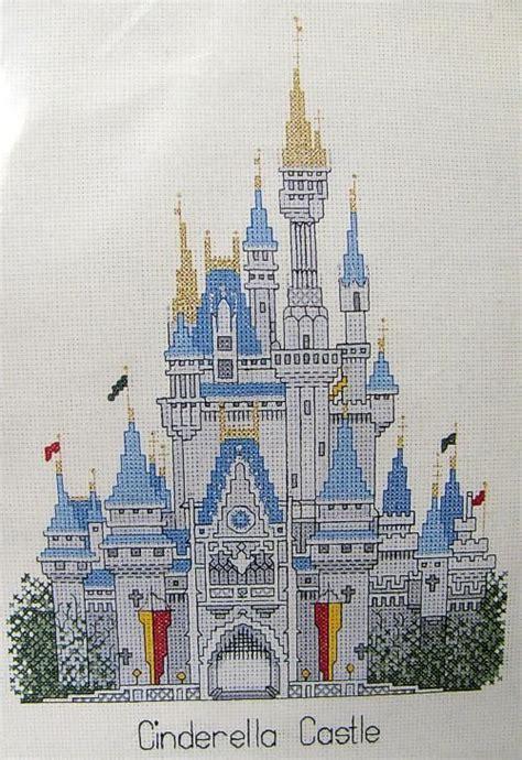 vintage disney cinderella castle cross stitch kit brand