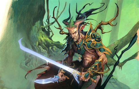 magic  gathering fantasy art elves daggers swords jesper ejsing wallpaper