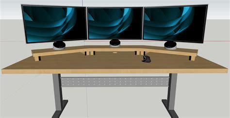 sit stand desk reddit triple monitor sit stand race station battlestations