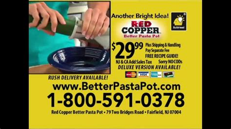 red copper  pasta pot tv commercial time  strain feat cathy mitchell ispottv